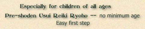 Usui Reiki training for children